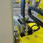 Abschalter um die Ladung bei falscher Position zu schützen, sodass der Drehring nicht auf die Ware drückt.